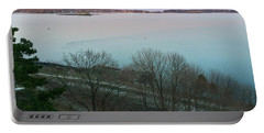 April Twilight On Casco Bay Portable Battery Charger