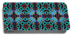 Aqua Geometric Mandala Portable Battery Charger
