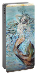 Aqua Mermaid Natural Portable Battery Charger