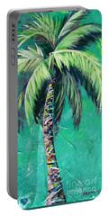 Aqua Palm Portable Battery Charger by Kristen Abrahamson