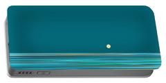 Portable Battery Charger featuring the digital art Aqua Sea by Val Arie