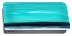 Aqua Sky - Bold Abstract Landscape Art Portable Battery Charger