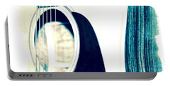 Aqua Tones Portable Battery Charger by Linda Bianic