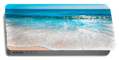 Aquamarine Island Beach Portable Battery Charger by Colleen Kammerer