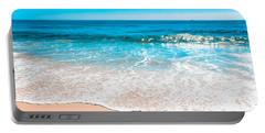 Aquamarine Island Beach Portable Battery Charger