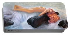 Aquamarine Sea Goddess Portable Battery Charger