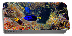 Aquarium Adventures In Abstract Portable Battery Charger