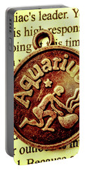Aquarius Zodiac Sign Portable Battery Charger