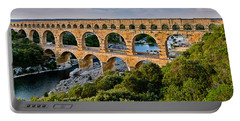 Aqueduct Pont Du Gard Portable Battery Charger