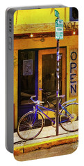Portable Battery Charger featuring the photograph Aqueria Bicycle by Craig J Satterlee