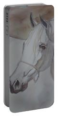 Arab Stallion In The Desert Portable Battery Charger