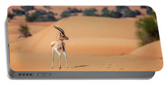 Portable Battery Charger featuring the photograph Arabian Gazelle by Alexey Stiop