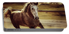 Arabian Horse Galloping Portable Battery Charger