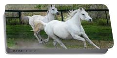 Arabian Horses Running Portable Battery Charger