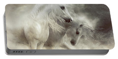 Arabian Horses Sandstorm Portable Battery Charger by Shanina Conway