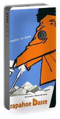 Arapahoe Basin, Colorado, Travel Poster Portable Battery Charger