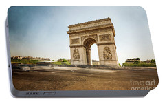Portable Battery Charger featuring the photograph Arc De Triumph by Hannes Cmarits