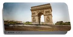 Arc De Triumph Portable Battery Charger by Hannes Cmarits