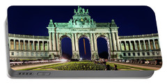 Arcade Du Cinquantenaire At Night - Brussels Portable Battery Charger