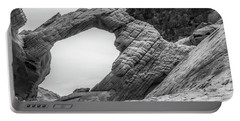 Arch Rock Black And White Portable Battery Charger