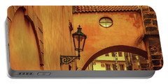 Portable Battery Charger featuring the photograph Arch Way In Old Town. Series Golden Prague by Jenny Rainbow