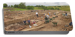 Archaeologists At Work At Roman Vindolanda Portable Battery Charger