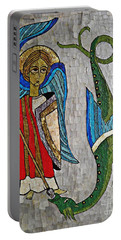 Archangel Michael And The Dragon    Portable Battery Charger