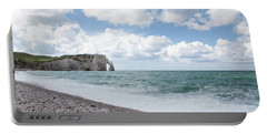 Arch At Etretat Beach, Normandie Portable Battery Charger
