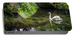 Arched Bridge And Swan At Doneraile Park Portable Battery Charger