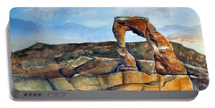 Arches National Park Portable Battery Charger by Debbie Lewis
