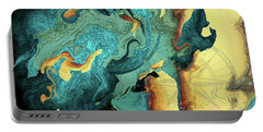 Portable Battery Charger featuring the painting Archipelago by Deborah Smith