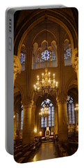 Architectural Artwork Within Notre Dame In Paris France Portable Battery Charger by Richard Rosenshein