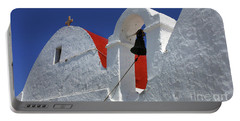 Architecture Mykonos Greece Portable Battery Charger by Bob Christopher