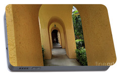 Portable Battery Charger featuring the photograph Archway by Gary Wonning