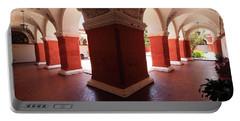 Portable Battery Charger featuring the photograph Archway Paintings At Santa Catalina Monastery by Aidan Moran