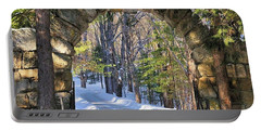 Portable Battery Charger featuring the photograph Archway To Winter by Debbie Stahre