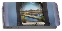 Archway To Wooden Bridge Montage Portable Battery Charger