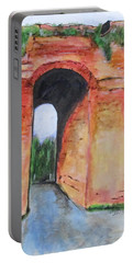 Portable Battery Charger featuring the painting Arco Felice, Revisited by Clyde J Kell