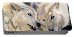 Arctic Pair Portable Battery Charger by Sandi Baker