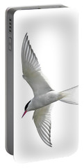 Arctic Tern Flying In Mist Portable Battery Charger