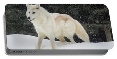 Arctic Wolf In The Snow Portable Battery Charger