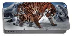 Portable Battery Charger featuring the digital art Are We There Yet by Pennie McCracken