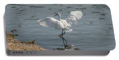 Are You Ready To Dance - Great Egret In Mtn View Ca Portable Battery Charger