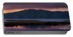 Aregunyats Range And Sevan Lake At Sunset, Armenia Portable Battery Charger