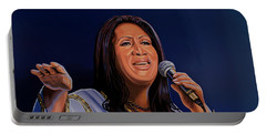 Aretha Franklin Painting Portable Battery Charger
