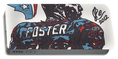 Portable Battery Charger featuring the drawing Arian Foster 2 by Jeremiah Colley
