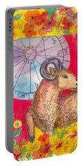 Portable Battery Charger featuring the painting Aries by Cathie Richardson