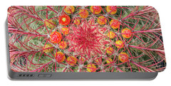 Arizona Barrel Cactus Portable Battery Charger by Delphimages Photo Creations