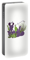 Portable Battery Charger featuring the digital art Arizona Cacti by Methune Hively