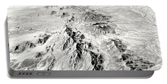 Arizona Desert In Black And White Portable Battery Charger